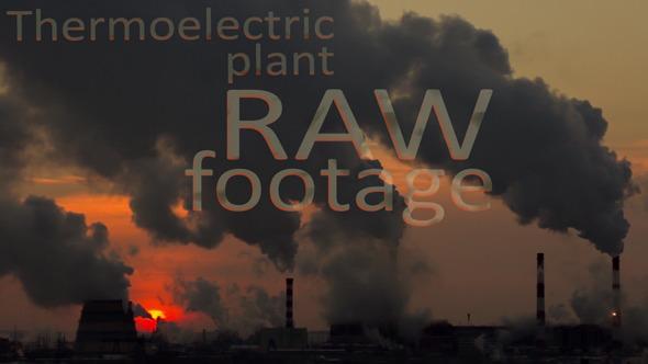 Smoking Thermoelectric Power Plant