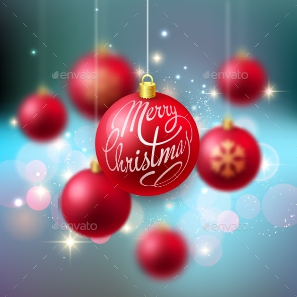 GraphicRiver Merry Christmas Bauble Greeting Card 9721971