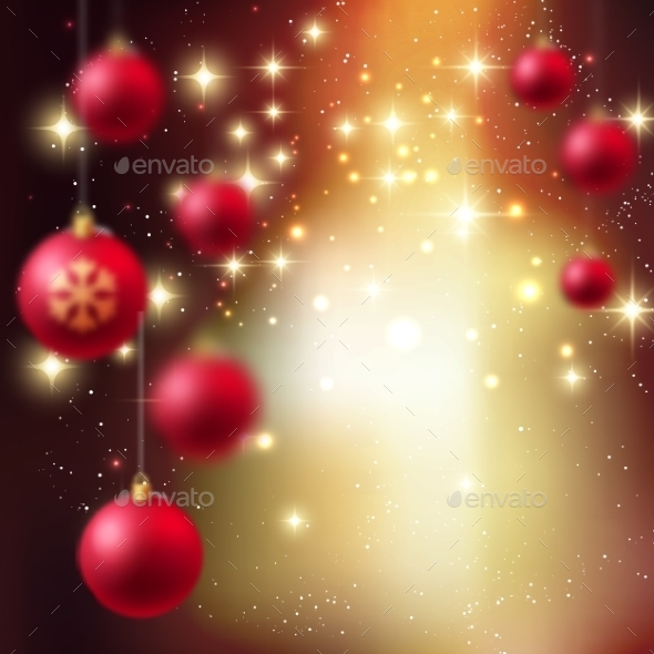 GraphicRiver Merry Christmas Bauble Greeting Card 9721975