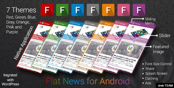 CodeCanyon Flat News for Android 9722003