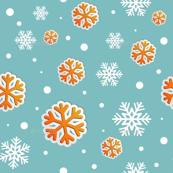 GraphicRiver Abstract Christmas Seamless Background with Snow 9722013