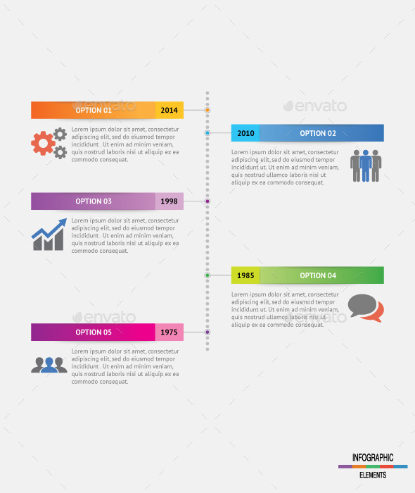 GraphicRiver Vertical Dot Timeline Infographic 9722135