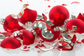 Broken Christmas balls over a white background - PhotoDune Item for Sale