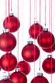 Background of Christmas balls over white with selective focus - PhotoDune Item for Sale