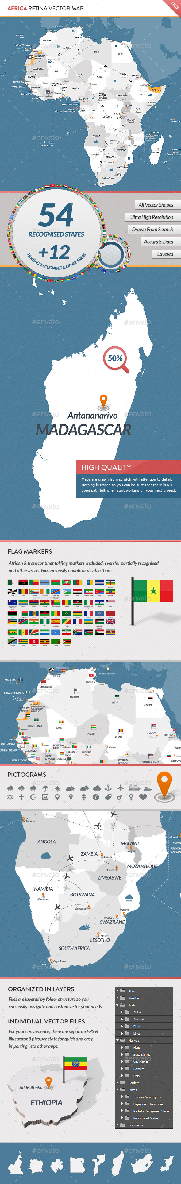 GraphicRiver Africa Retina Vector Map 9722173