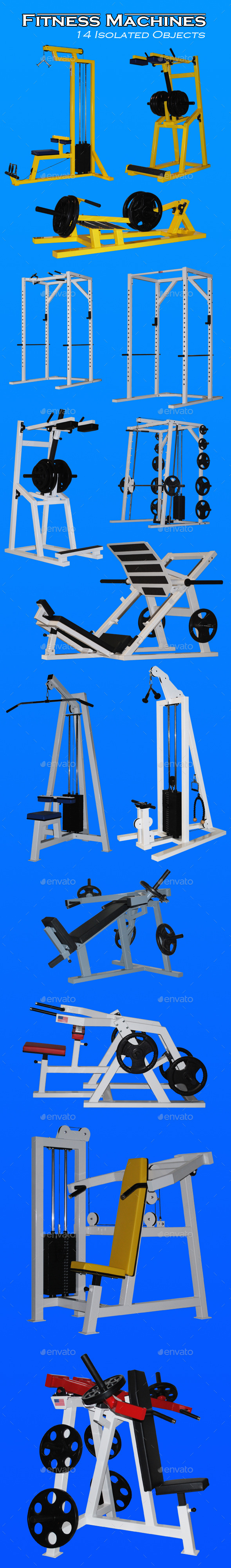 GraphicRiver Fitness Machines 9722257