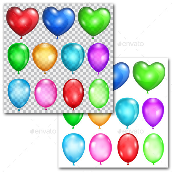 GraphicRiver Set of Balloons 9722353