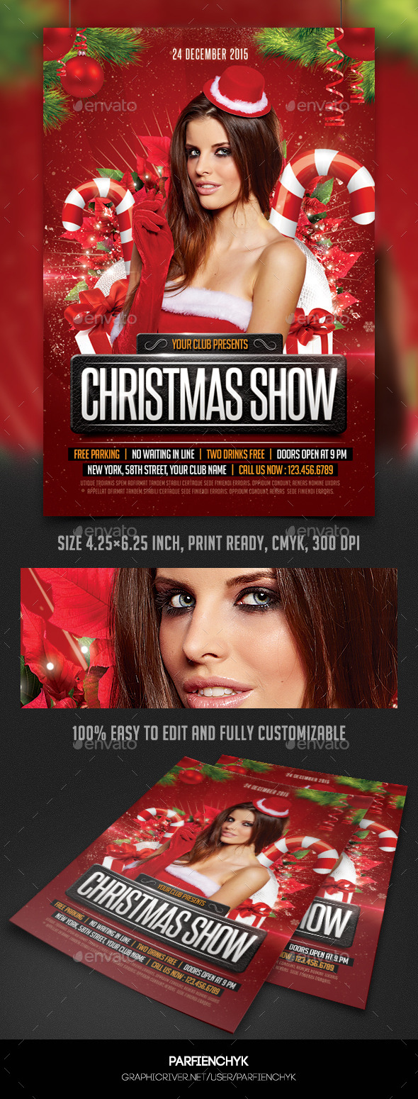 Christmas Show Party Flyer