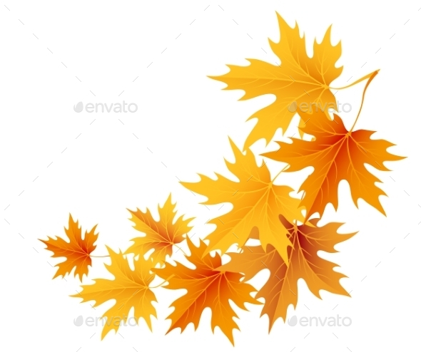 GraphicRiver Autumn Leaves Background 9722440