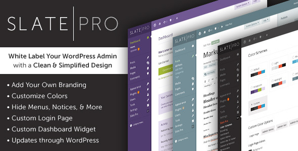 WordPress Admin Theme and White Label - Slate Pro