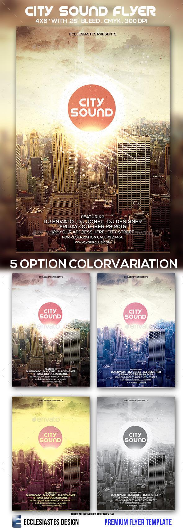 GraphicRiver City Sound Flyer 9722560