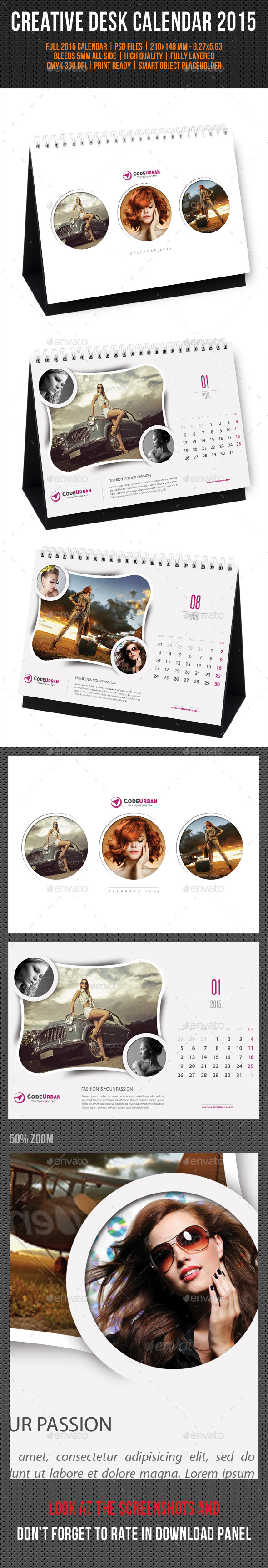GraphicRiver Creative Desk Calendar 2015 V07 9722565