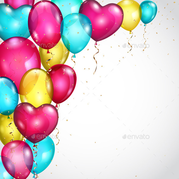 GraphicRiver Background with Many Colored Balloons 9722592