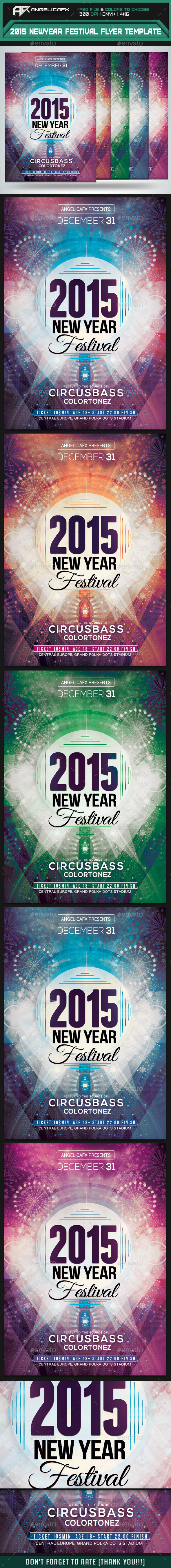 GraphicRiver 2015 New Year Festival Flyer Template 9722601