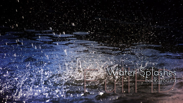 VideoHive Water Sparkling Splashes 9722709