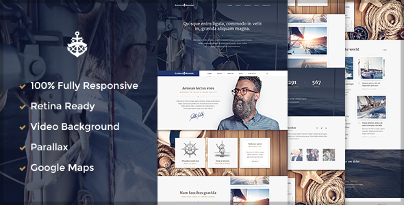 Yacht is a marine WordPress Theme. You can use as blog or corporate template. It's built on the Bootstrap 3.2 .All code is easily edited and properly stru