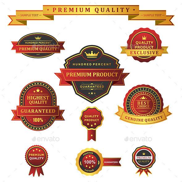 GraphicRiver Label premium set 9685892