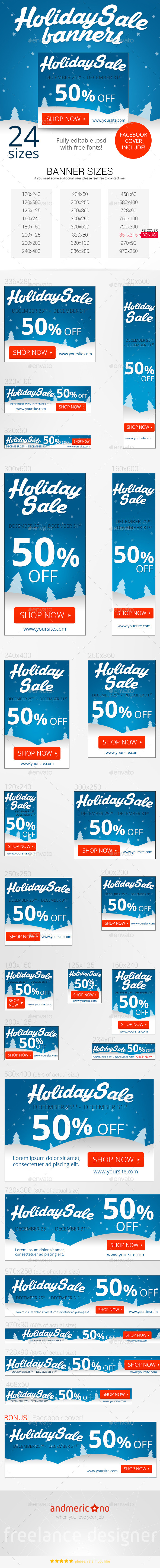 GraphicRiver Holiday Sale Banners 9722759