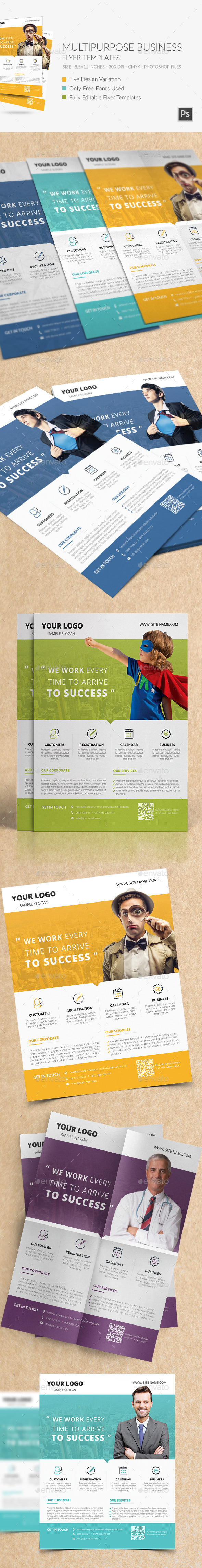 GraphicRiver Multipurpose Business Flyer Templates 9722787