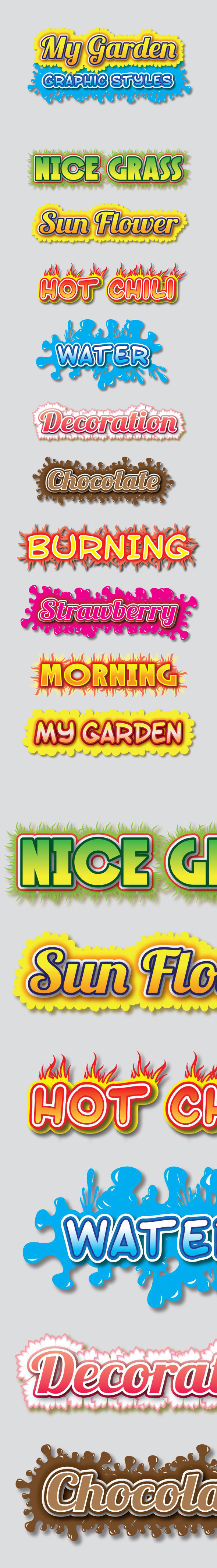 My Garden Graphic Styles for Ai