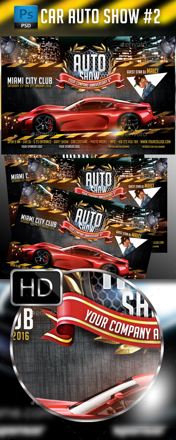 GraphicRiver Auto Show Car Flyer Template 9722810