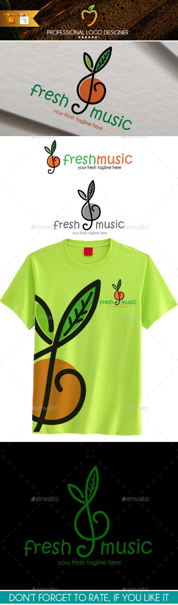 GraphicRiver Fresh Music Logo 9722873