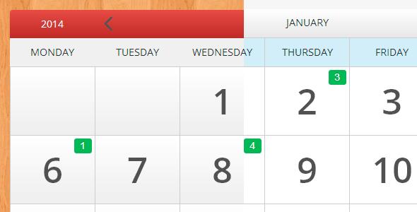 eCalendar Responsive Events Calendar