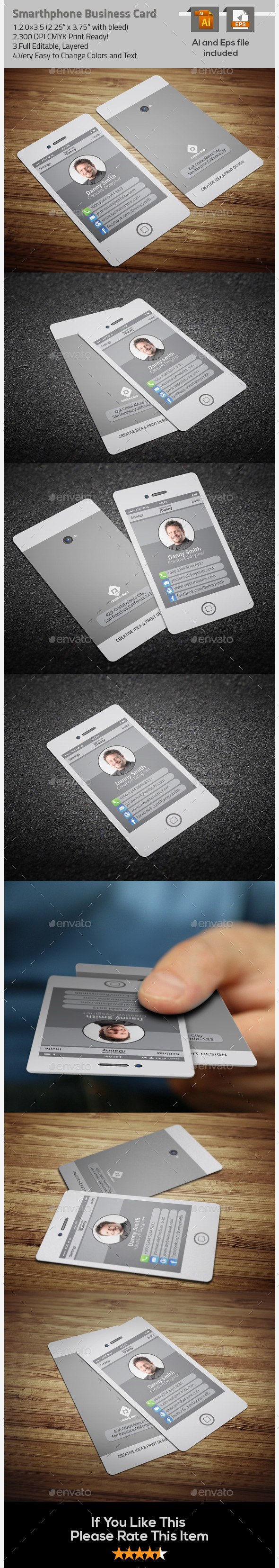 GraphicRiver Stylish Smartphone Business Card-2 9722950