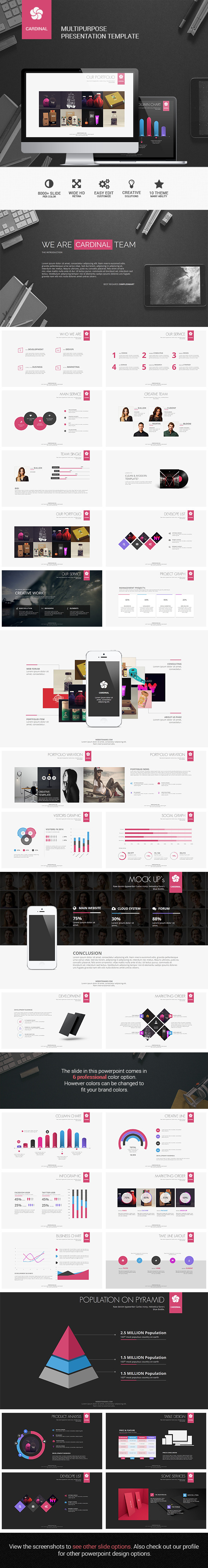 Cardinal Multipurpose Presentation Template