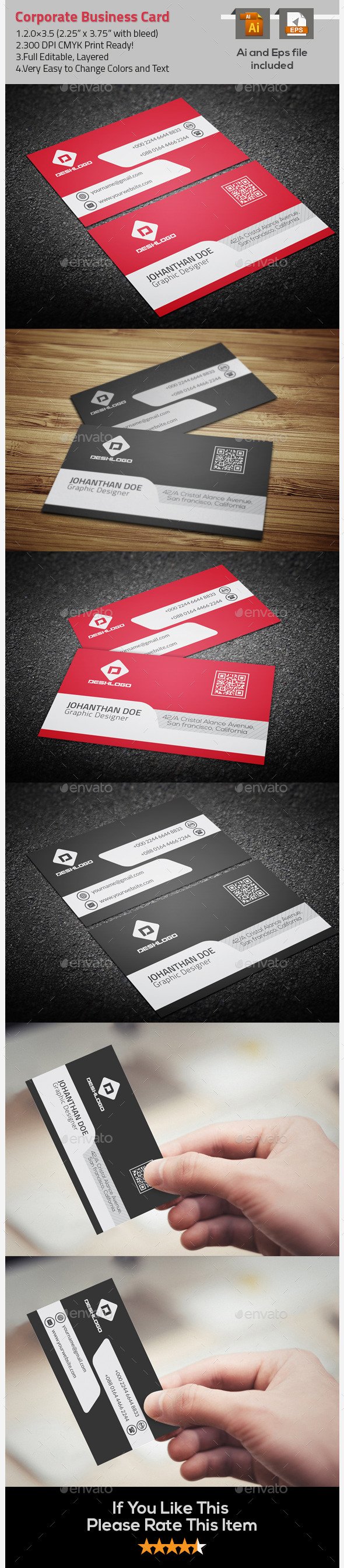 GraphicRiver Nice & Simple Corporate Business Card 9722963