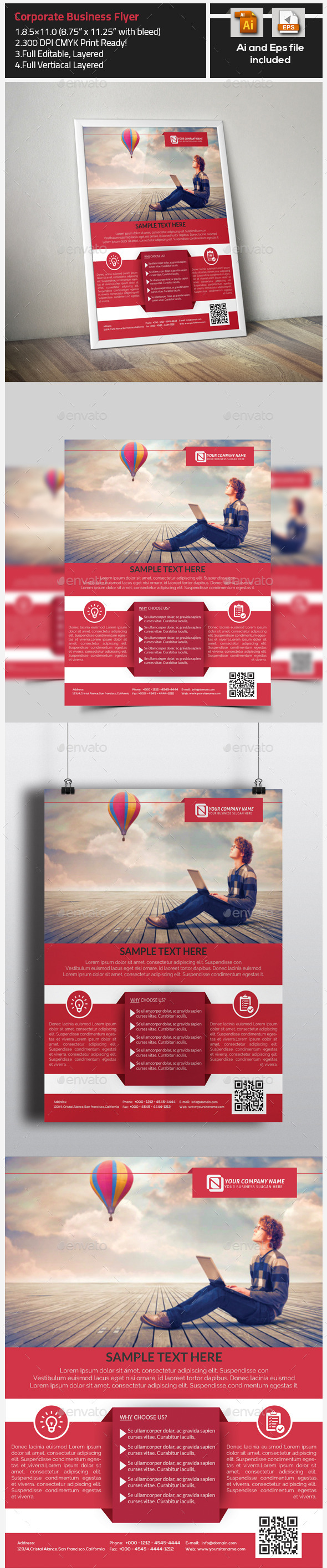 GraphicRiver Corporate Business Flyer Template 9722980