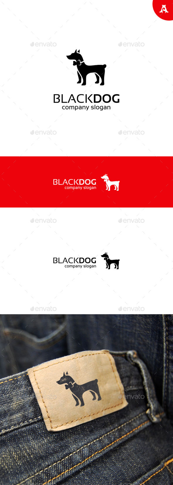 GraphicRiver Black Dog Logo 9722997