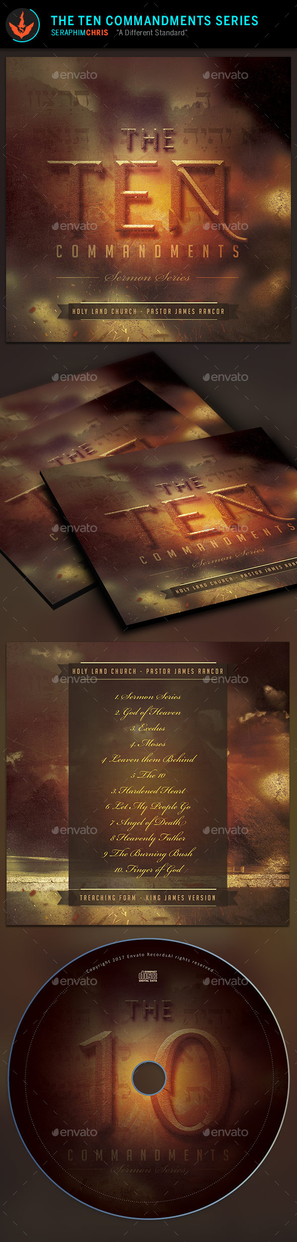 GraphicRiver 10 Commandments Series CD Artwork Template 9723003