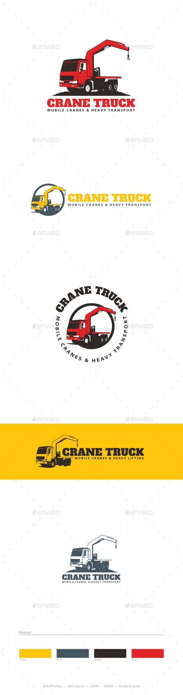 GraphicRiver Crane Truck Logo Template 9723010