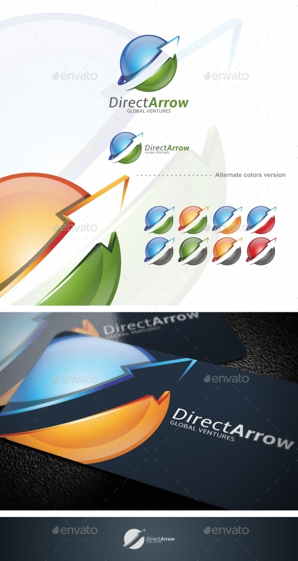 GraphicRiver Direct Arrow Logo Template 9723015