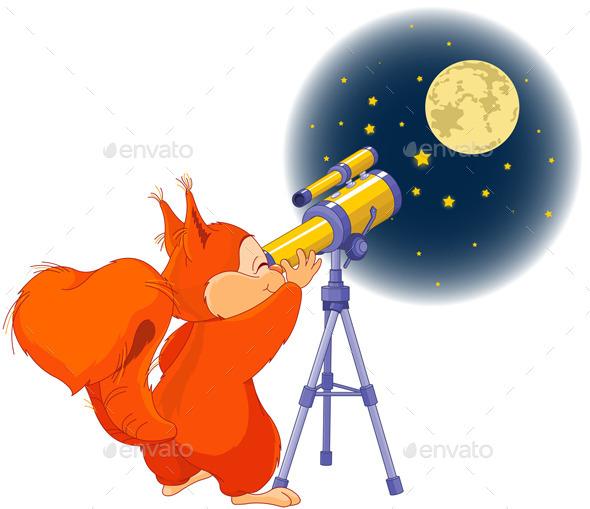 GraphicRiver Squirrel Astronomer 9723021
