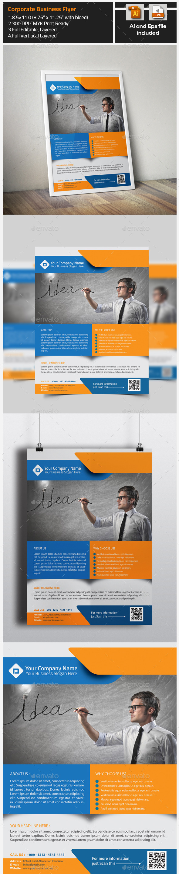 GraphicRiver Colorful Business Corporate Flyer 9723076