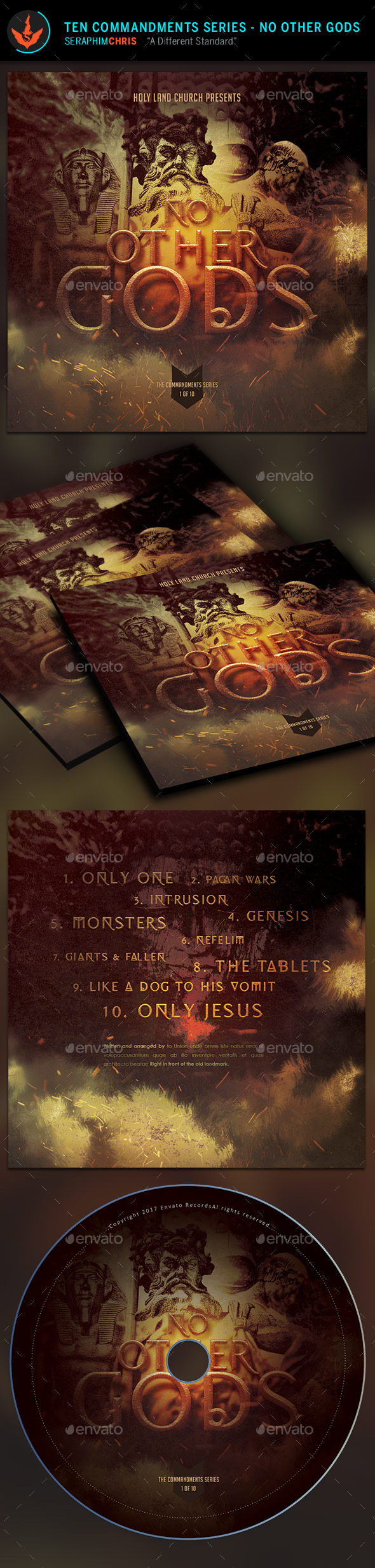 GraphicRiver No Other Gods CD Artwork Template 9723106