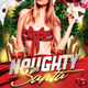 Naughty Santa Flyer - GraphicRiver Item for Sale