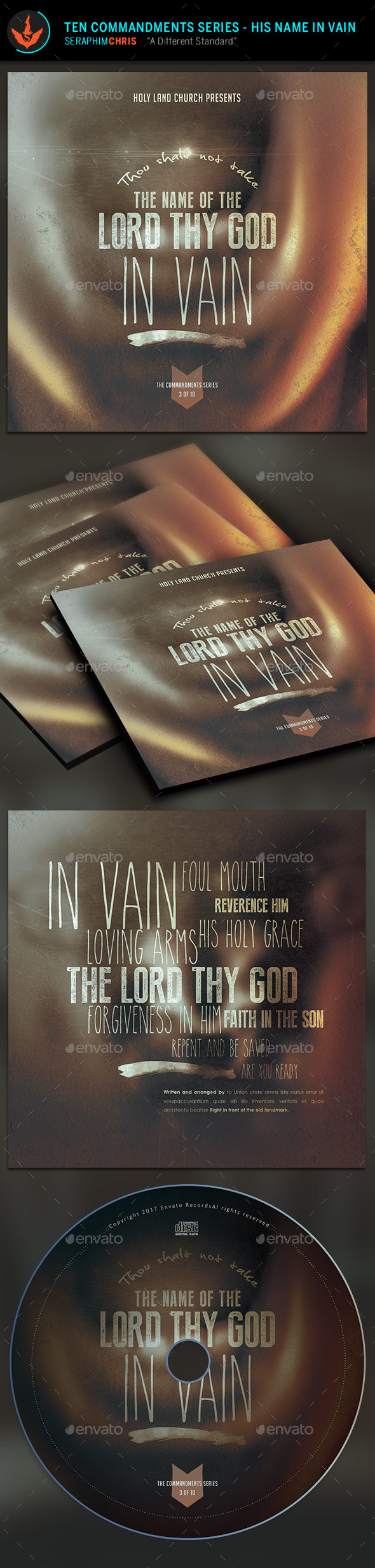 GraphicRiver The Lord's Name CD Artwork Template 9723231