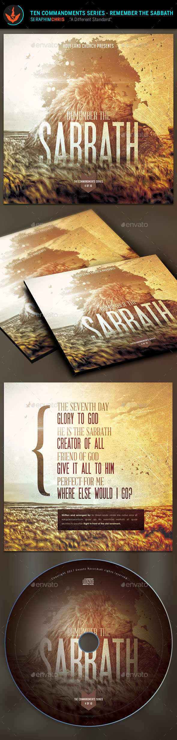 GraphicRiver Remember the Sabbath CD Artwork Template 9723252