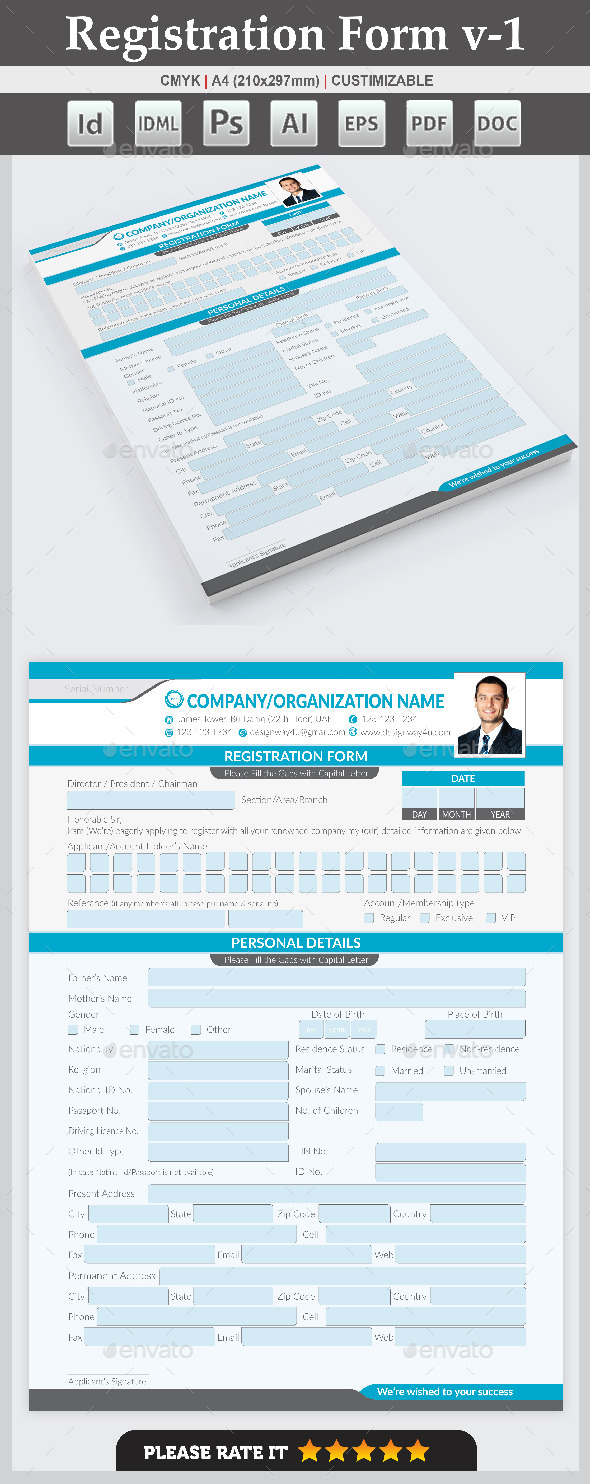 GraphicRiver Registration Form v-1 9723310