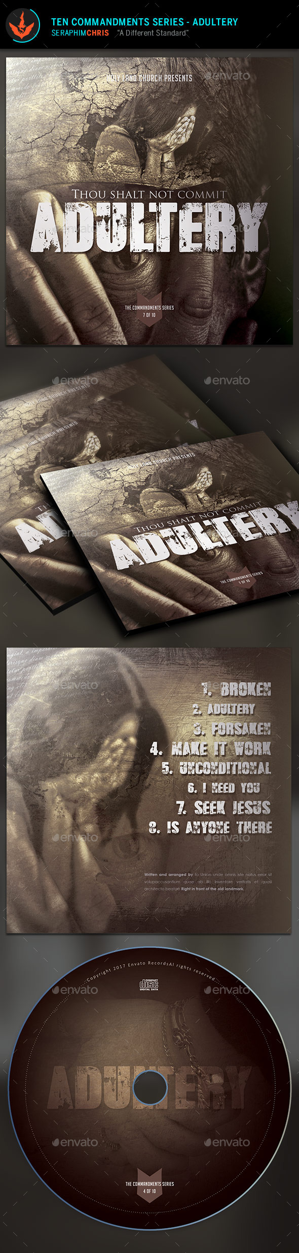 GraphicRiver Adultery CD Artwork Template 9723314
