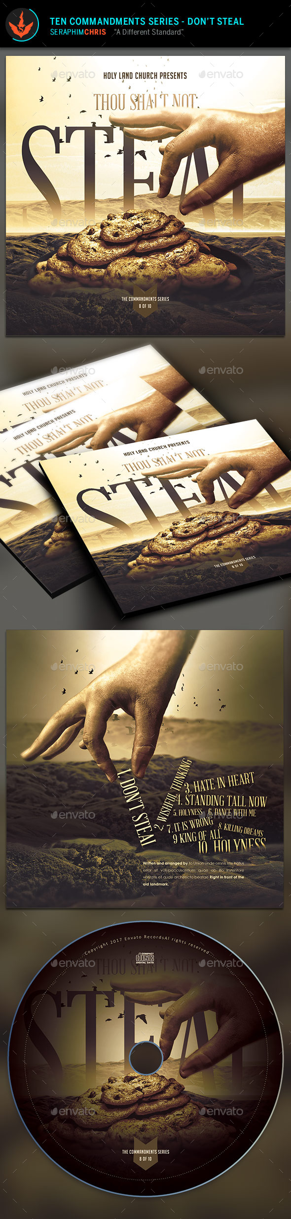 GraphicRiver Thou Shalt Not Steal CD Artwork Template 9723397