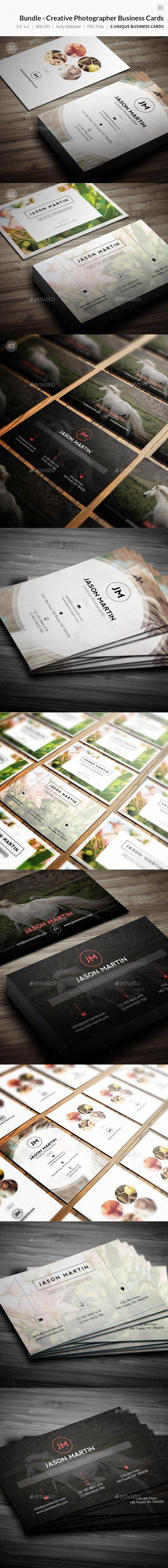 GraphicRiver Bundle Creative Photographer Business Card 51 9723436