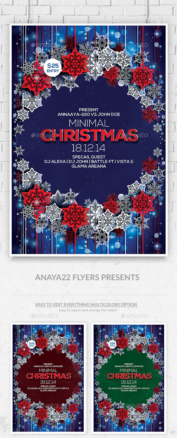 GraphicRiver Christmas and Winter Party Flyer Psd Template 9723443
