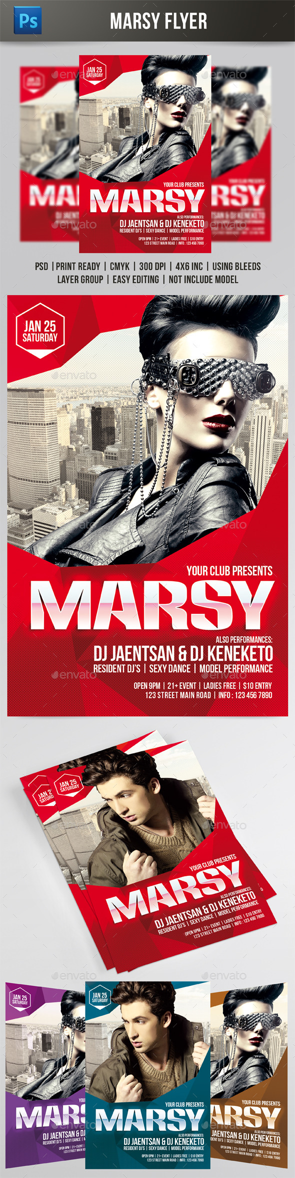 GraphicRiver Marsy Flyer 9723458