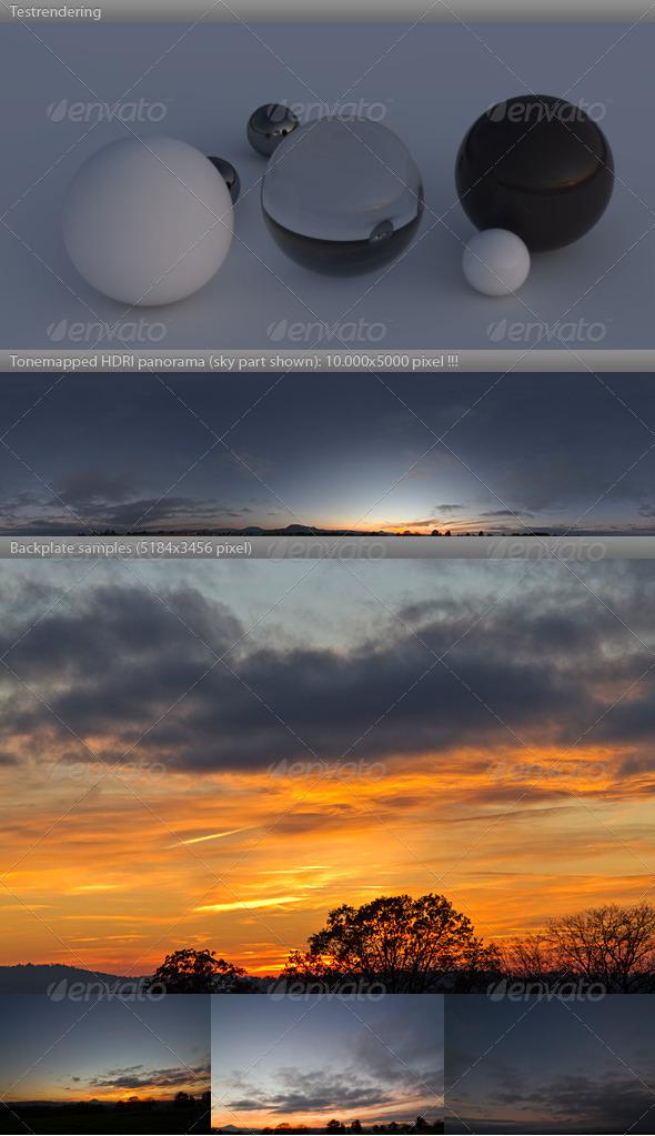 3DOcean HDRI spherical sky panorama 1731- fall evening 981942