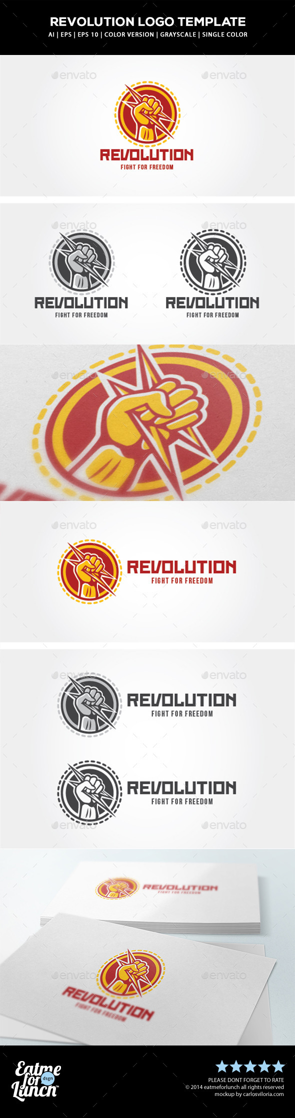 GraphicRiver Revolution Logo Template 9723469