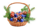 Christmas decorations in basket - PhotoDune Item for Sale